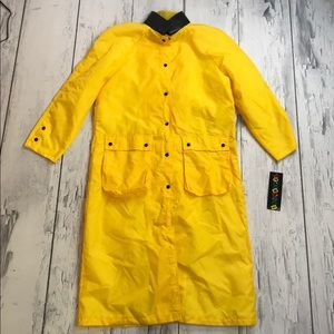Vintage Rain Coat NEW WITH TAGS yellow black